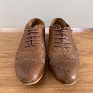Zara women's wingtip brogues